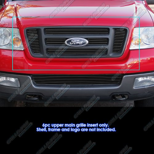APS Fits 2004-2008 Ford F150 Bar Style Black Billet Grille Grill Insert #F65726H -