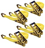Keeper 04629 25' x 2'' Ratchet Tie-Down with J-Hooks, 4 Pack
