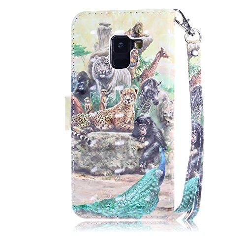 Housse Magnétique Plus A8 Coque Samsung Plus A8 de Herbests 2018 Etui A8 à Galaxy Accessoire Rabat Galaxy Pochette Telephone Samsung pour Plus Galaxy Samsung 2018 de Etui 2018 Housse Zoo Prote Coque Coque qwtpff
