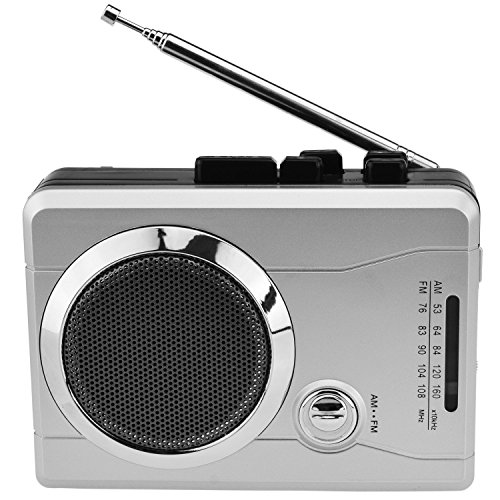 DigitNow! Mini Audio Retro Cassette Player Wireless AM/FM Radio and Voice Radio Cassette Recorder with Earphones (With Player Auto Reverse Cassette)