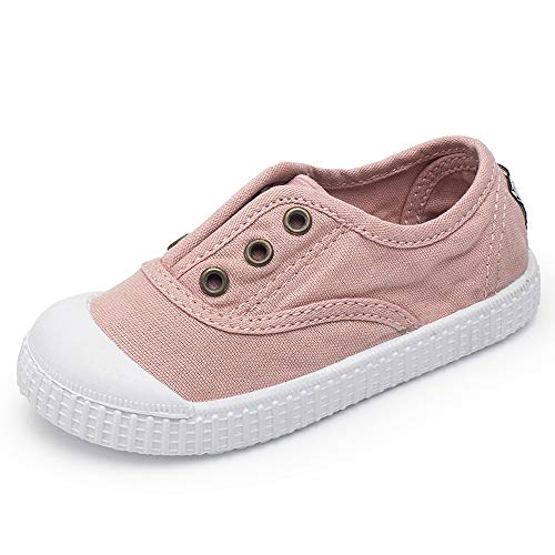 KaMiao Toddler Shoes Kids Canvas Light Weight Slip-on Sneakers Girls Boys Baby Casual Shoes -