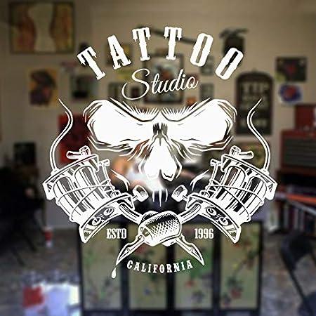 hllhpc Tattoo Shop Salon Logo Tatuajes de Pared Art Studio Vinyl ...
