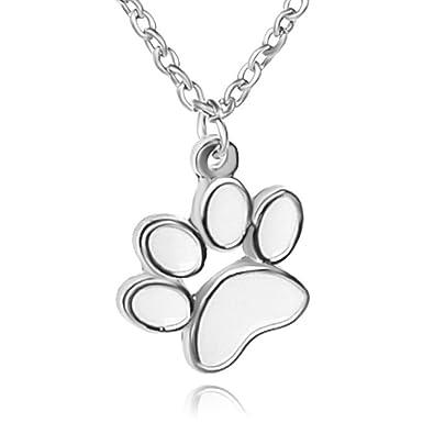 """Collar """"Huellas para los amantes de los animales mascotas perro gato colgante joyas"""