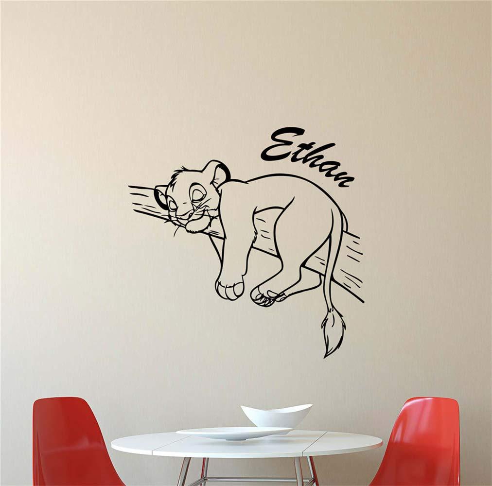 etiqueta de la pared decoración Lion King Decal Personalizado Lion ...