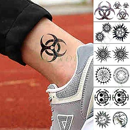 tzxdbh Etiqueta engomada del Tatuaje Temporal Impermeable Lindo ...