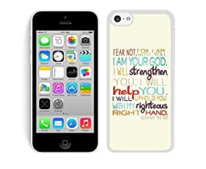 Silicone New Iphone 5c White Case Mate Bible Verse Soft TPU Mobile Phone Protective Cover