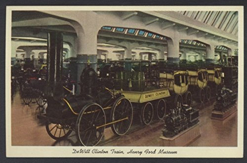 Dewitt Clinton Railroad (DeWitt Clinton Train Dearborn Michigan Henry Ford Museum Steam Railroad Postcard)