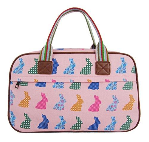 Shoulder Flower Various Overnight Top Pink Rabbit Crossbody Design Tote And Animal Kukubird Handle Bag Handbag wvSZq