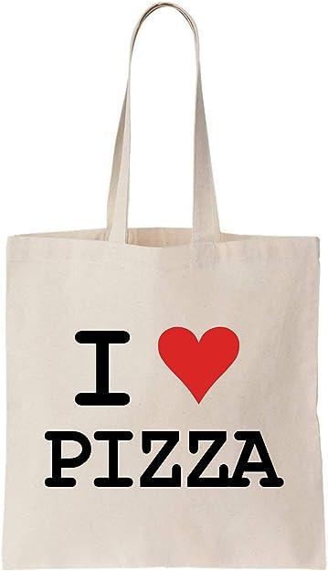 KRISSY I Love Pizza Algodón Bag Tote Bag: Amazon.es: Zapatos y ...