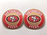 x2 San francisco 49ers decal stickers. Decorate your: laptops, Walls, Car, Windows, Bumpers, guitars, iPad, iPhone, refrigerator, Laptops. Buy - Edwin Group of Companies.