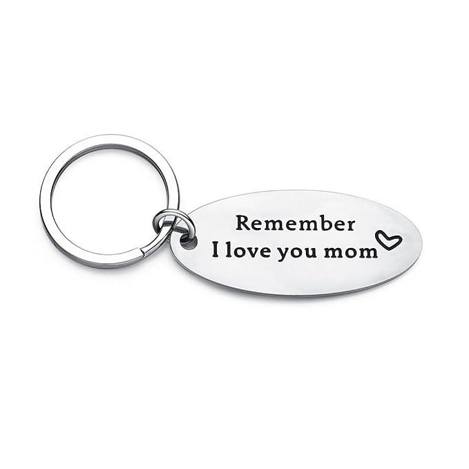Amazon.com: Remember I Love You Mom - Llavero con colgante ...