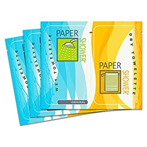 Paper Shower-Original, 48 Body Wipe Packs (A Wet And Dry Towel In Each Pack) Per OrderOn Sale