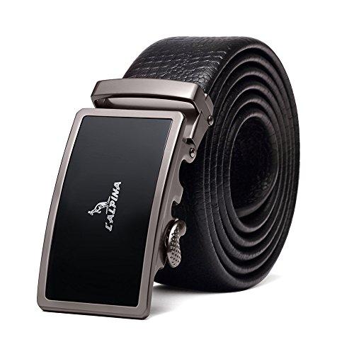 Accessories Designer Belts - Designer Belts For Men Leather Ratchet Dress Belt With Automatic Buckle Black Gift Box