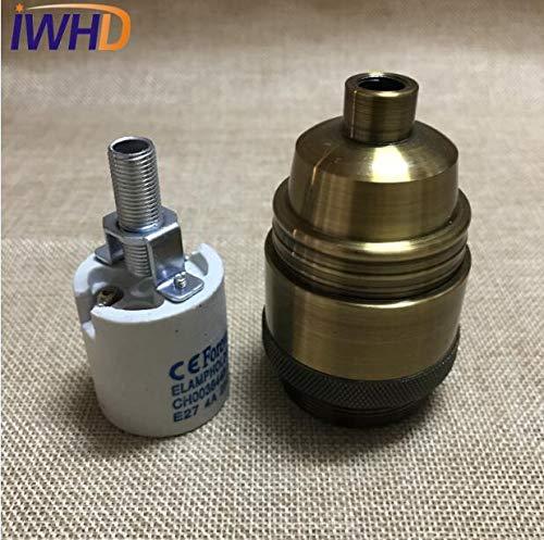 Lamp Base - Vintage E27 Socket Lampholder Loft Style Industrial Style E27 Edison Lamp Holder Base For Pendant Light Socket - (Color: WHITE)