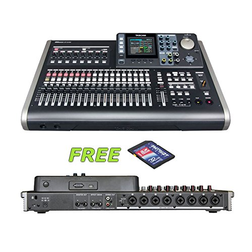 - Tascam DP-24SD 24-Track Digital Portastudio with a Free 32GB Patriot SD Card
