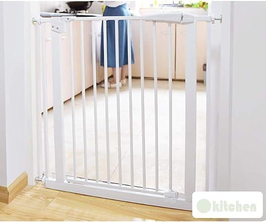 QIANDA Barrera Seguridad Niños Protector Escaleras Bebe Auto Cerrado Cierre Sistema Eficaz Barrera Puerta Ideal for Niños Y Mascotas - H78cm | W61-277cm (Color : White, Size : 267-276.9cm): Amazon.es: Hogar