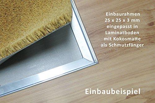Relativ Einbaurahmen ca. 59,5 x 39,5 cm, Alu Winkelrahmen für den Einbau VK19
