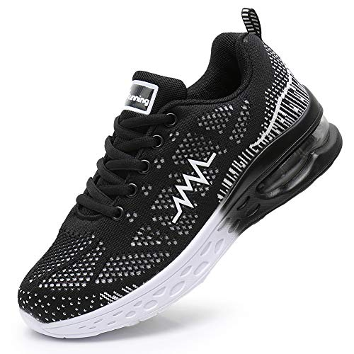 JARLIF Women's LT 2 Road Running Sneakers Fashion Sport Air Fitness Workout Gym Jogging Walking Shoes Black 9.5 B(M) US