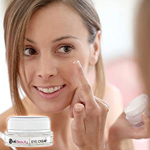 BEST EYE CREAM FOR WRINKLES, DARK CIRCLES and PUFFINESS with Vitamin C and Glycolic Acid. Enriched with Green Tea, Rosehip Oil and Coenzyme Q10 for Beautiful Skin With Superior Anti-wrinkle Results