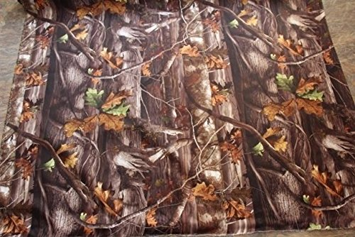 Real Tree Hardwood Fall Leaves Outdoor Duck Fabric Material Camouflage Camo