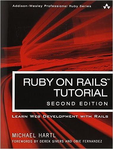 Ruby on rails tutorial learn web development with rails 2nd ruby on rails tutorial learn web development with rails 2nd edition addison wesley professional ruby michael hartl 0785342832051 amazon books fandeluxe Images