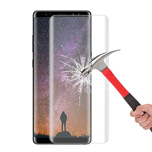 Galaxy Note 8 Screen Protector, Daker [Case Friendly] [2 pack] HD Clear [Bubble Free] [Easy to Install] 3D Curved Edge 9H Full Coverage Tempered Glass for Samsung Galaxy Note 8 (Clear 2 pack)