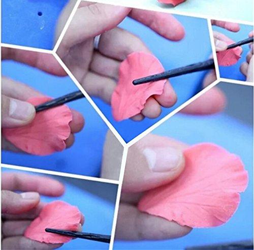 4 Blue Rubber Handle Ball Stylus Mandala Stencil 5 Color Handle Dotting Tools Genround 20 Pcs Dotting Tools Set 8 Acrylic Rod Paint Tray and Storage Bag Mandala Dotting Tools