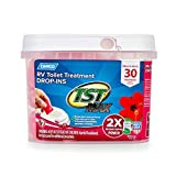 Camco 41604 30 Pack Strength TST Ultra-Concentrated Hibiscus Breeze Scent RV Toilet Max Treatment Drop-Ins, Formaldehyde Free, Breaks Down Waste and Tissue, Septic Tank Safe