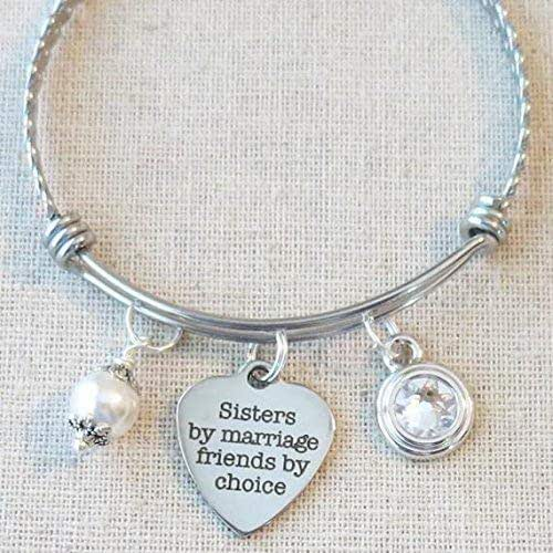 Sister In Law Gift Birthday Sisters By Marriage Friends Choice Bracelet Christmas Bangle