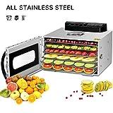 6 Trays Food Dehydrator,Commercial Stainless Steel Dehydrator Raw Food & Jerky Fruit,400W Preserve