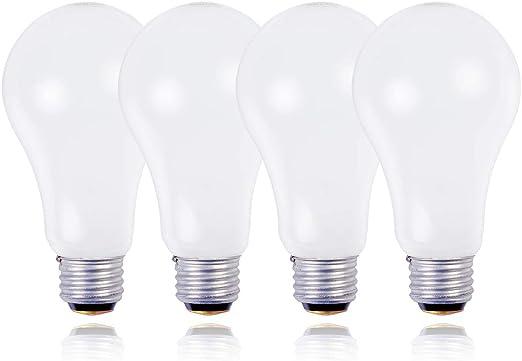 JSLINTER 3-Way 50 100 150 Incandescent Light Bulb, A21, Medium Screw Base E26, 4-Pack