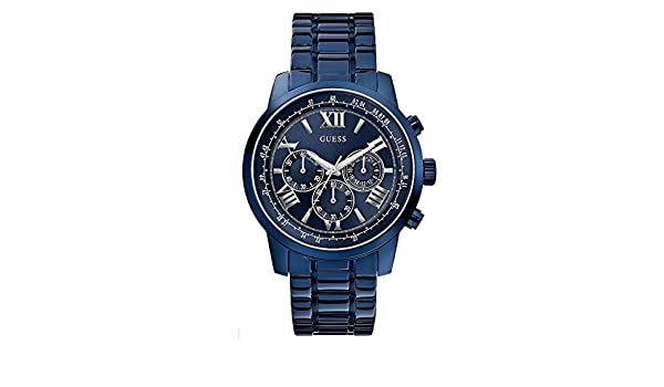 Amazon.com: GUESS Factory Mens Blue-Tone Classic Sport Chronograph Watch: Watches