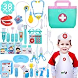 NextX Doctor Kit, 38 Pieces Pretend Play Toys Kids Electronic Stethoscope Dentist Medical Kit Gifts...