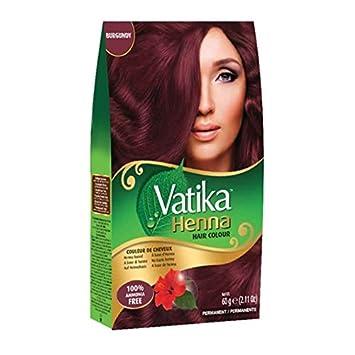 Amazon.com : Vatika Henna Burgundy Hair Color Ammonia Free (60 g ...