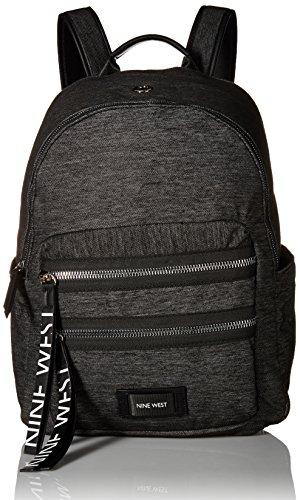 Nine West Tallis Campus Laptop Backpack, Dark Grey/Black/Black -