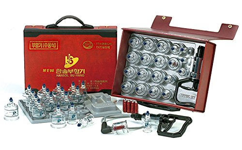 Hansol Professional Cupping Therapy Equipment Set with pumping handle 19 Cups /  English Manual...
