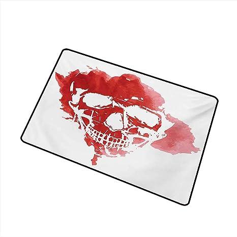 Amazon com : Diycon Waterproof Door mat Horror House Skull