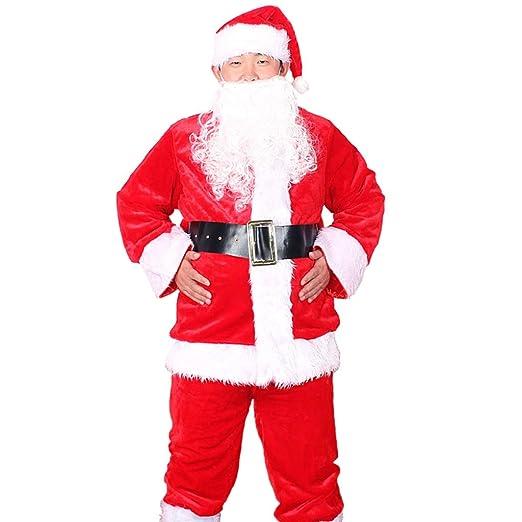 Traje de Traje de Santa para Hombre, Chaqueta, pantalón, Barba ...