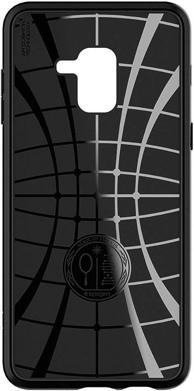 Spigen Liquid Air Coque pour Samsung Galaxy A8 (2018) Noir mat