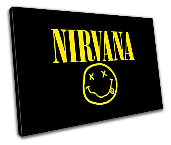 Amazon.com: Nirvana Music Icon Canvas Print Home Decor- Wall Art ...
