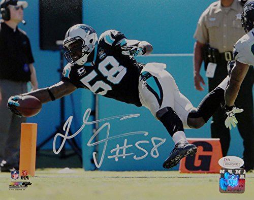 Thomas Davis Autographed Carolina Panthers 8x10 TD Diving Catch Photo JSA W Auth