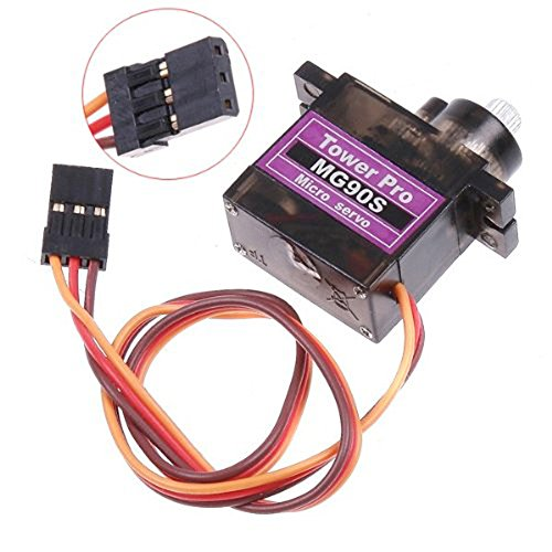 Mallofusa MG90S 9G Metal Geared Micro Servo for RC Plane Helicopter Boat Car Robot Control