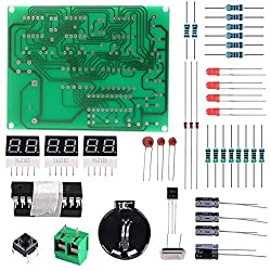 Aoicrie 6-Digit DIY Digital Electronic Clock Kit AT89C2051 Chip Alarm Clock Kit PCB Soldering Practice Learning Kits