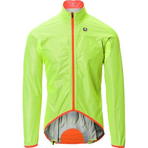 Giordana Monsoon Shell Jacket - Men's Fluo Yellow/Orange, L