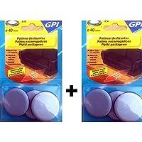GPI–Lote de 8discos especiales para desplazar grandes muebles.