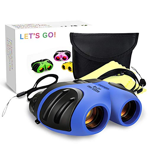 Outdoor Fun Toys for 3-12 Year Old Boys, DIMY Binoculars for Children Kids Brithday Christmas Xmas Halloween Best Gifts for Boys Age 3-12 Blue DL02