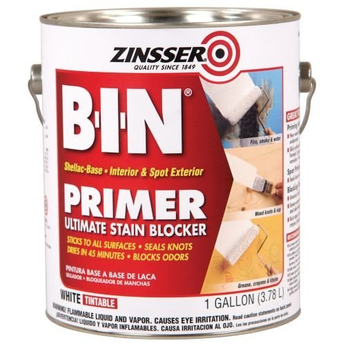- Zinsser B-I-N Shellac-Base Primer, 1-Gallon, White