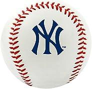 Bola de beisebal com o logotipo do time New York Yankees da MLB, oficial, branco