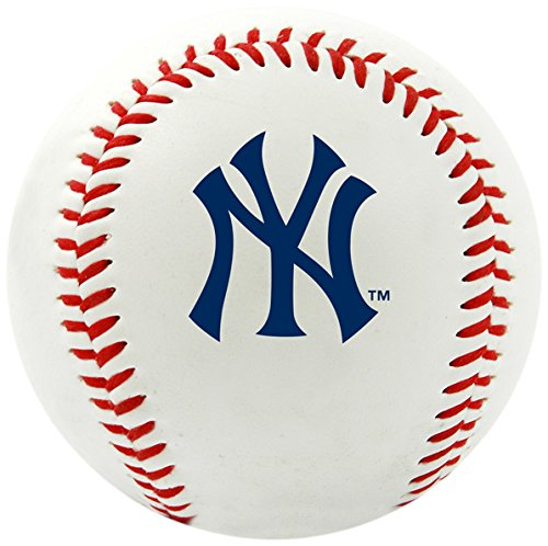 New York Yankees Ball (Rawlings MLB New York Yankees Team Logo Baseball, Official, White)
