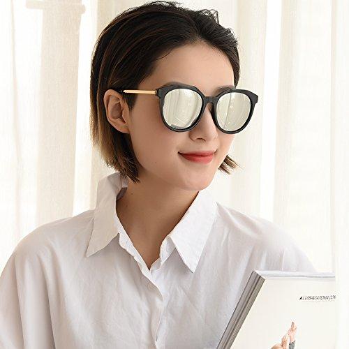 para De De Sol Plateado Gafas Gafas Xue zhenghao Sol Brown xp4w1If
